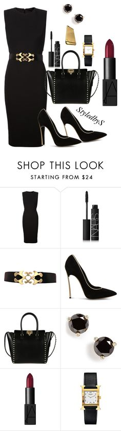 """StyledbyS"" by sforstylebys on Polyvore featuring Victoria Beckham, NARS Cosmetics, Casadei, Valentino, Kate Spade, Hermès, WorkWear, summerfashion, officechic and officechicstyle"