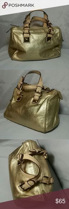 Michael Kors gold handbag In great condition.  Small mark on handle. Height: 7 inches Width: 6 inches MICHAEL Michael Kors Bags