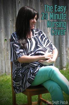 Super Easy Knit Nursing Cover. Free pattern!