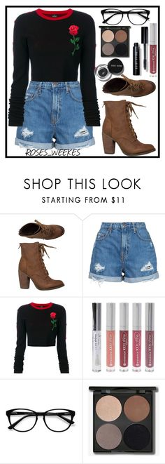 """Outfit 85"" by beep-beep-richie ❤ liked on Polyvore featuring Rebels, Nobody Denim, County Of Milan, Forever 21, EyeBuyDirect.com and Bobbi Brown Cosmetics"