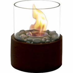Paramount® Small Cylinder Concrete Fire Column in Antique Bronze Finish