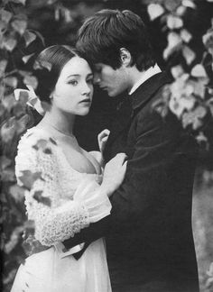 """Olivia Hussy and Leonard Whiting in Franco Zefferelli's """"Romeo and Juliet"""" 1968."""