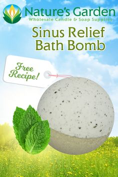 Free Sinus Relief Bath Bomb Recipe by Natures Garden