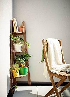 Mueble esquinero para el balcón