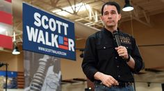 Relieved Scott Walker Narrowly Avoids Acknowledging Immigrants' Humanity During Campaign Speech