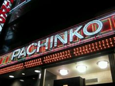 Pachinko sign in Tokyo, Japan.