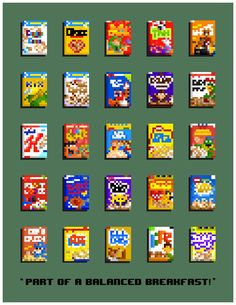 My wife came up with a cool idea to make 8-bit cereal boxes... Good lord was it hard.
