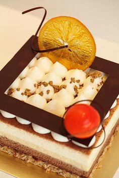 Chocolat noir et blanc Gâteau à l'orange / dark and white chocolate cake with orange