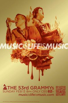 Arcade Fire 'Music Is Life Is Music' 53rd GRAMMY Awards Campaign