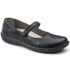 BIRKENSTOCK Iona Natural Leather in all sizes ✓ Buy directly from the manufacturer online ✓ All fashion trends from Birkenstock Sneaker High Heels, Plantar Fasciitis Shoes, Black Mary Jane Shoes, Black Birkenstock, Basket A Talon, White High Heels, Buy Shoes Online, Shoe Company, Black Leather Shoes
