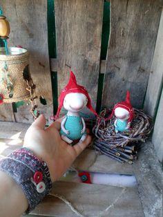 Купить Подвески - скворечники с малышами - тёмно-бирюзовый, красный, скворечник, подвеска в детскую, интерьерная подвеска