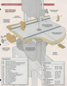 #3224 Band Saw Table Plans - Band Saw