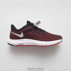 e3446e58a AA7403-004 Mens Aliexpress FSR Nike Quest Pursuit All-match Lightweight  Textile Face Jogging Shoes Wine Bred White