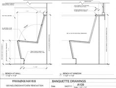 Built In Banquette Seating Banquette Seating Drawings