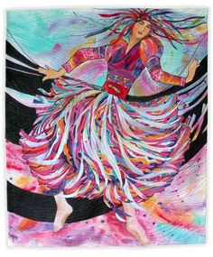 """Ode to Joy"" by Luella Morgenthaler.  Art quilt. Front Range Contemporary Quilters 