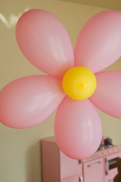 "balloon flowers.  I made these for my daughters birthday party.  It is really hard to find 5"" and 6"" balloons."