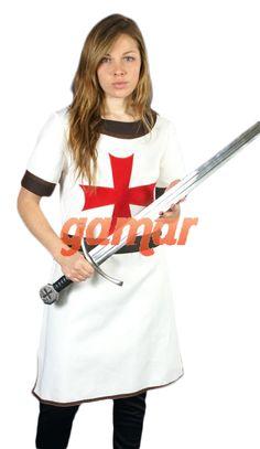 Mujer Templaria. Trajes Medievales Mujer. Disfraces Gamar