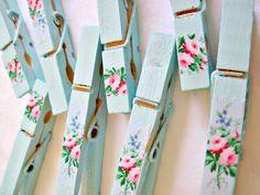 painted clothes pins༺✿Teresa Restegui http://www.pinterest.com/teretegui/✿༻