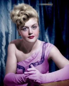 Angela Lansbury Photo colorized by Alex Lim Hollywood Photo, Hollywood Actor, Vintage Hollywood, Hollywood Actresses, Classic Hollywood, Female Actresses, British Actresses, Actors & Actresses, 1950s Movie Stars
