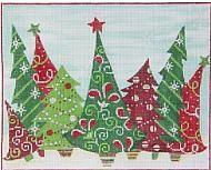 "Crazy Christmas Trees 10""x8"""