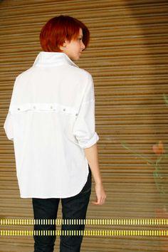 Study NY Shirt 1.1 in white. Made in New York, NY.