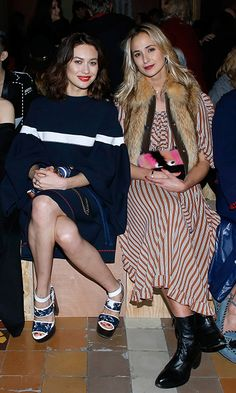 Actress Olga Kurylenko joined Princess Elisabeth von Thurn und Taxis in the FROW at Sonia Rykiel.