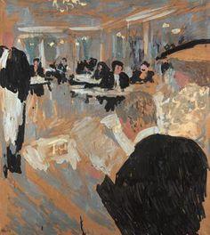 Edouard Vuillard, Cafe Scene on ArtStack #edouard-vuillard #art