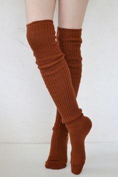 474fb6a6490 Scrunchy Socks in Dark Orange by  tabbisocks Rain Boot Socks