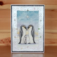 Christmas has arrived at Hobby Art! Introducing 'Poles Apart' New Size Clear set contains 14 stamps. Designed by Sharon Bennett. Card by Sally Dodger Cat Crafts, Clear Stamps, Sally, Christmas Cards, Projects To Try, Feb 2017, Art Cards, My Favorite Things, Art Designs