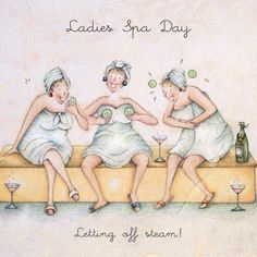 Cards » Ladies Spa Day » Ladies Spa Day - Berni Parker Designs