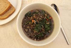 well-worn: lentil spinach soup   Everybody Likes Sandwiches