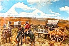 Army Escort On the Santa Fe Trail (from a diorama)