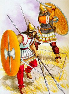 Thracian warriors as mercenaries in the armies of Syria, Macedonia, Pergamum and Bactria, 3rd to 2nd cent. B.C. ~ art by Radoslav Georgiev