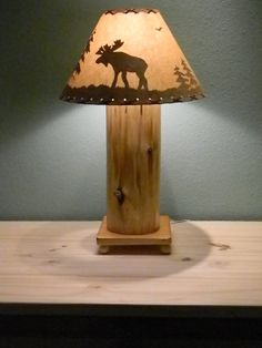 Marvelous Hand Crafted Cedar Table Lamp Rustic Design | NatureWhispers   Woodworking  On ArtFire | Log Furniture | Pinterest | Woodworking, Craft And Woods