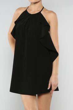Ruffle Em Up Dress – black