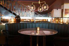 Haymarket by Scandic, Stockholm, Restaurang Restaurant Layout, Restaurant Booth, Cool Restaurant, Restaurant Design, Haymarket Hotel, Booth Seating, Retail Interior, Sweet Home, Brand Identity