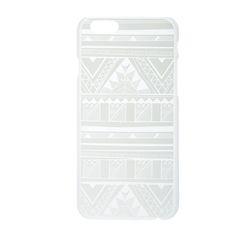 White Aztec Print Glow in the Dark Phone Case  - iPhone 6/6S