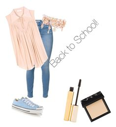 Back to School! by lauralovexoxo on Polyvore featuring polyvore fashion style Chloé 7 For All Mankind Converse Henri Bendel Stila NARS Cosmetics