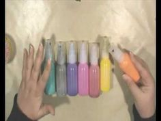 *(TUTORIAL) Making Homemade Spray Paints - permanent sprays - color won't run when layering mediums.