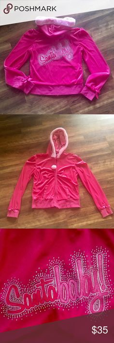 Victoria's Secret PINK Santa Baby Jacket Christmas Great condition!! Super cute and rare! Size Large  Victoria's Secret sexy little things - perfect for the holidays! 💕 PINK Victoria's Secret Tops Sweatshirts & Hoodies
