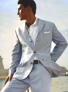 summer suit... for a dude :) Love a man in a suit!!