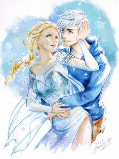 Jack and Elsa by Archie-The-RedCat.deviantart.com on @deviantART