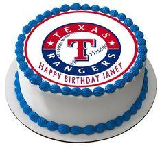 Texas Rangers Edible Birthday Cake Topper