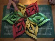 Eenvoudig te maken papieren ster. Stap voor stap uitleg. Gemakkelijk en eenvoudig te maken ook voor kinderen. Zo kleurrijk als je zelf wil. Gemaakt met eenvo...