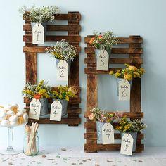 Wooden Wedding Table Plan