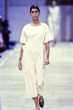 "In anticipation of the Costume Institute's spring 2017 exhibition featuring Rei Kawakubo, here's a look at the designer's Spring 1992 collection for Comme des Garçons titled ""Unfinished."""