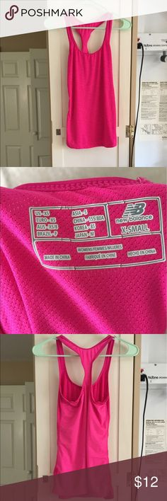 NB athletic top New balance pink athletic tank top, never worn New Balance Tops Tank Tops