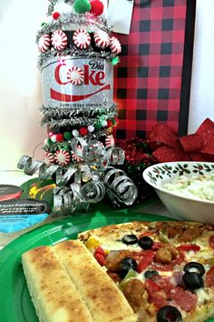 Soda Bottle Christmas Tree + Buy A Meal & Help For Family in Need #GiveHappiness #ad