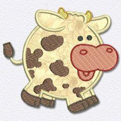 Adorable Applique Applique Patterns, Applique Designs, Baby Quilts Easy, Deer Farm, Animal Quilts, Quilt Blocks, Cute Babies, Cow, Coin Purse