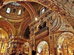 baroque interior - Google Search The Basilica of San Juan de Dios